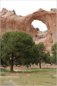 Window Rock, for which the capital of the Navajo Nation is named.