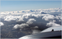 Above the clouds – Phil's reward for patience in his flight training