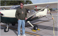 Mark was challenged by landings, but flew solo at 47 years old on Halloween day 2007