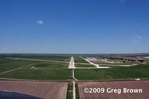 Final approach at Garden City, Kansas.