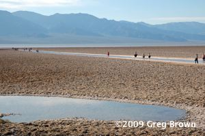 At 282 feet below sea level, Badwater is the lowest point in the Western Hemisphere
