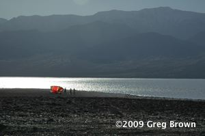 The salty but rare presence of water offers uncommon recreation at Death Valley.