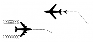 Aircraft approaching head-on.