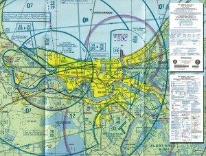 VFR terminal area chart and legend.