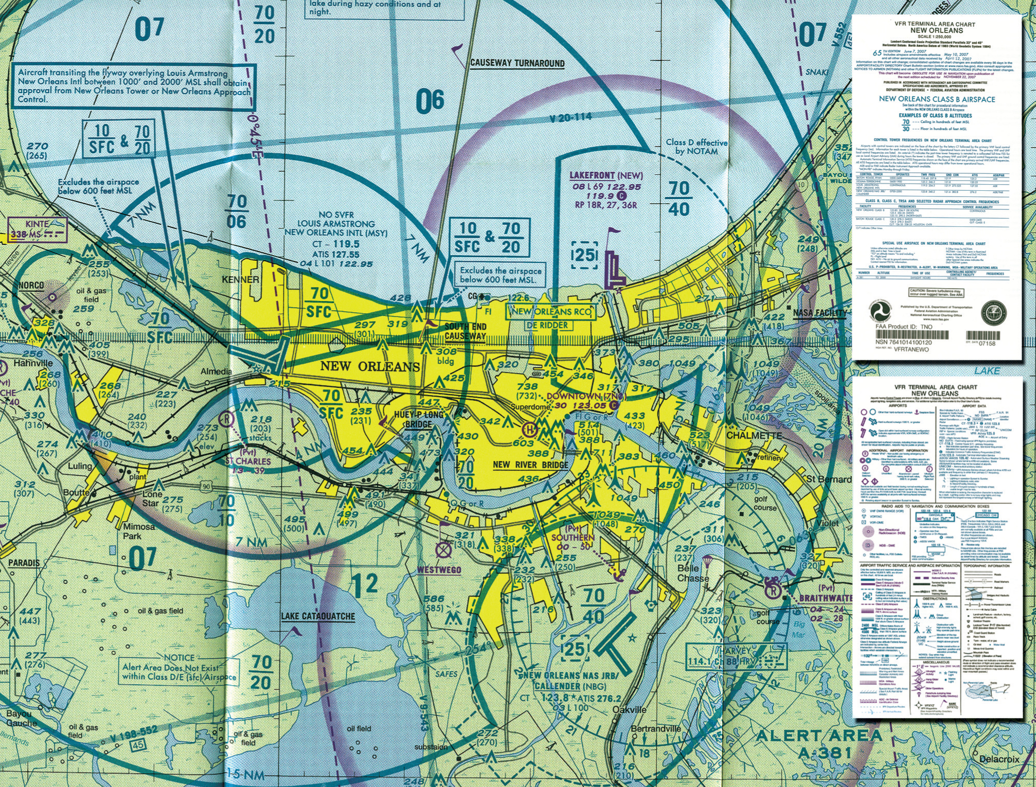 Vfr Terminal Area Chart And Legend