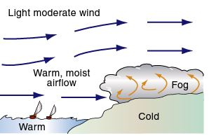 Advection Fog, image from The Pilots Manual.