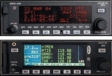 GPS and NAV management receivers.
