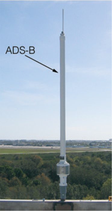 ADS-B ground based transceiver (GBT) antenna.